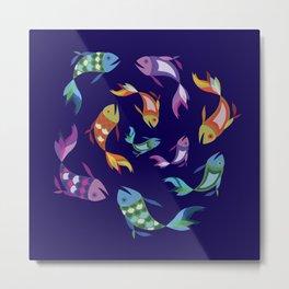 Circle Fish Design Metal Print