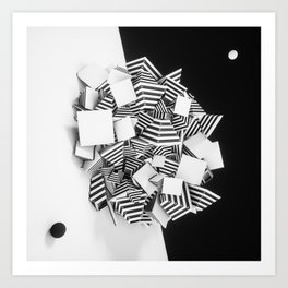 Abstract Pyramid 3D Illustration Art Print