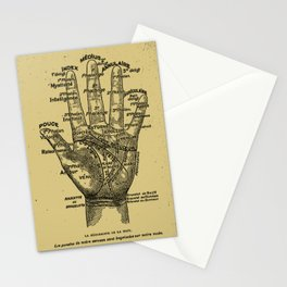 French Palmistry Stationery Cards