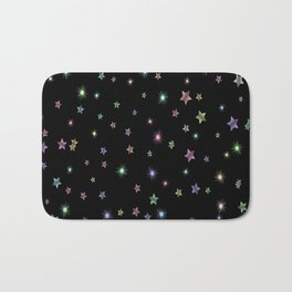 Colored Sparkling Stars Bath Mat