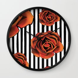 Pin Striped Romance Wall Clock