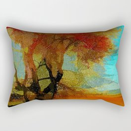 Red Tree Rectangular Pillow