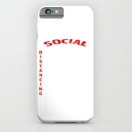 Pandemic Social Distance Quarantine And Demarcation iPhone Case
