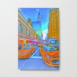 New York Street Pop Art Metal Print