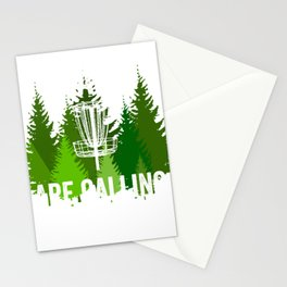 Chains Are Calling - Funny Disc Golf Shirt Frisbee Men Women Stationery Cards