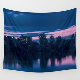 Dredging lake in Baden-Wurttemberg Wall Tapestry