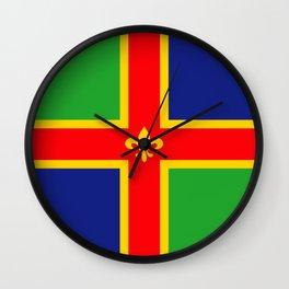 Lincolnshire region flag united kingdom great britain Wall Clock