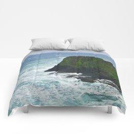 Ocean Cliffs Comforters