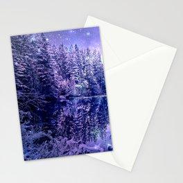 Lavender Winter Wonderland : A Cold Winter's Night Stationery Cards