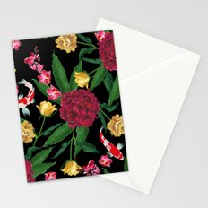 Black Tropical Stationery Cards