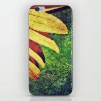 fleur de lis iPhone & iPod Skins featuring Sunflower Fleur De Lis by minx267