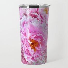 Shabby Chic Pink Peonies Travel Mug