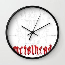 Trust me I'm a metalhead Wall Clock