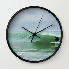 Riding The Storm Out Wall Clock