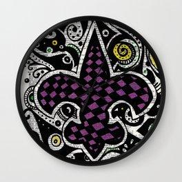 Mardi Gras  (fleur de lis) Wall Clock