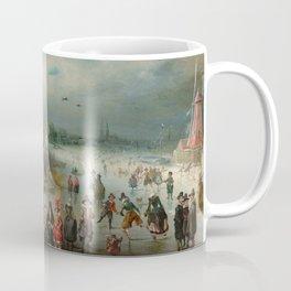 "Adam van Breen ""Skating on the Frozen Amstel River, 1611"" Coffee Mug"