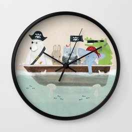 the pirate tub Wall Clock