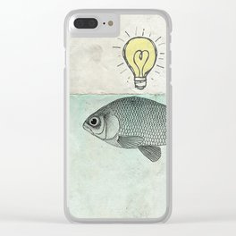 Ideas and Goldfish Clear iPhone Case