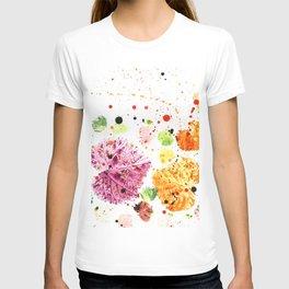 Colorful Rainbow Leaves - Autmnal Happy Leaf Composition T-shirt