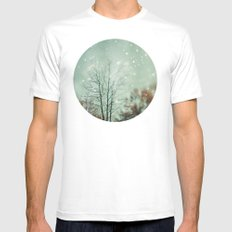 First Snowfall  MEDIUM Mens Fitted Tee White