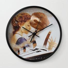 Sloth as Jack Dawson Wall Clock