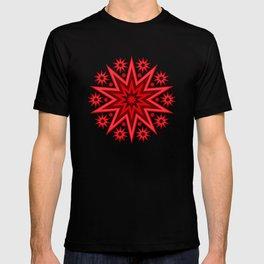 Fiery Red Flashing Fireworks Mandela Stars T-shirt