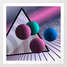 converging lines again -1- Art Print