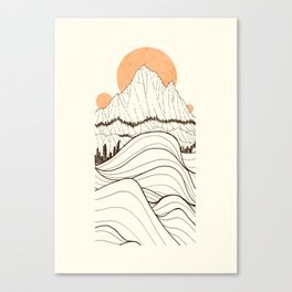 Forest Sun Cliffs Canvas Print