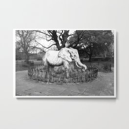 Elephant in the park Metal Print