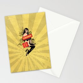 A Censored Sexy Woman Vintage Graphic Stationery Cards