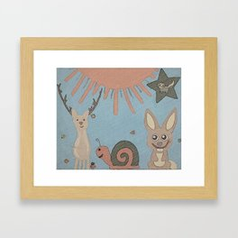 Woodland Wonder Creatures Framed Art Print