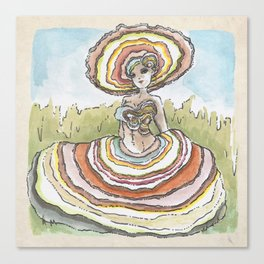 Empire of Mushrooms: Trametes versicolor Canvas Print