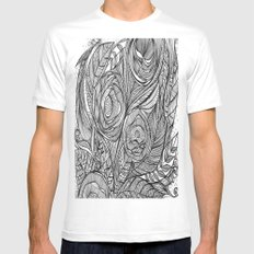 Garden of fine lines MEDIUM Mens Fitted Tee White