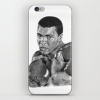 ali gulec iPhone & iPod Skins featuring Muhammed Ali by Emily J. Cole