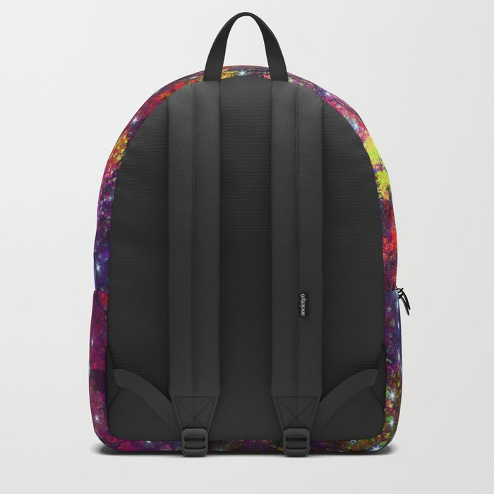 stars in the colorful wall Backpack