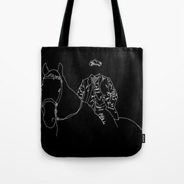 Horse and Fashion Noir Tote Bag