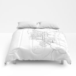 Minimal City Maps - Map Of Boulder, Colorado, United States Comforters