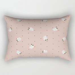 Gardenia pattern pink Rectangular Pillow