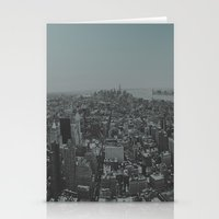 manhattan Stationery Cards featuring Manhattan by Leah Flores