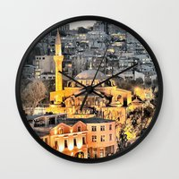 istanbul Wall Clocks featuring Istanbul by khi'en