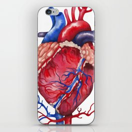 Watercolor heart iPhone Skin