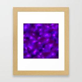 Ultra Violet Spring Floral Abstract Framed Art Print