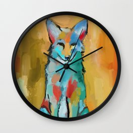 Coyote painting - Impressionism Abstract Framed Art Print Art Print Wall Clock