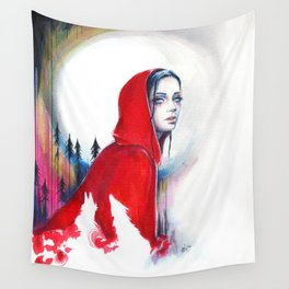What big eyes you have - ink illustration Wall Tapestry