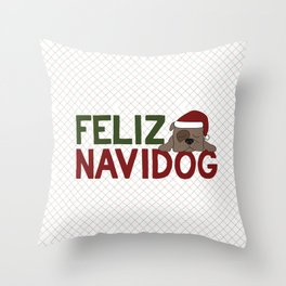 Feliz Navidog Throw Pillow