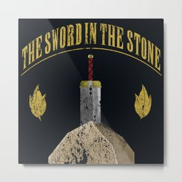 The Sword In The Stone Metal Print