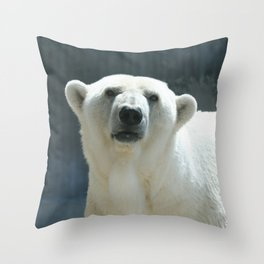 Awesome Polar Baer Throw Pillow