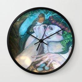 Trust Me Watercolor Wall Clock