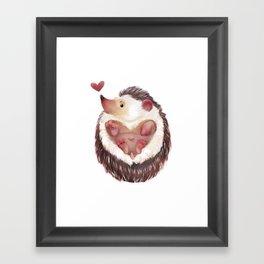 Edgelov hedgehog Framed Art Print