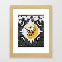 Black & Gold Framed Art Print